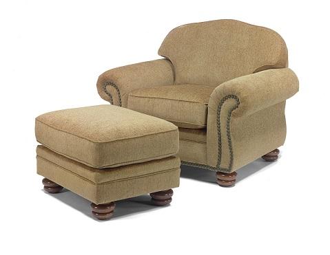 Flexsteel Bexley Chair and Ottoman -0