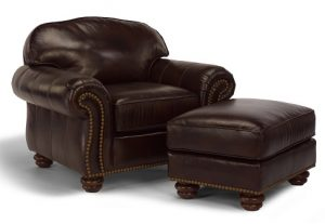 Flexsteel Bexley Leather Chair and Ottoman -0