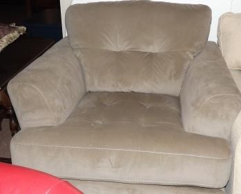 Khaki Plush Micro Fiber Chair
