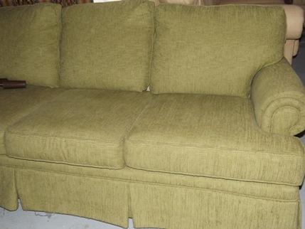 Broyhill Green Sofa