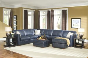 Klaussner Options Leather Sectional
