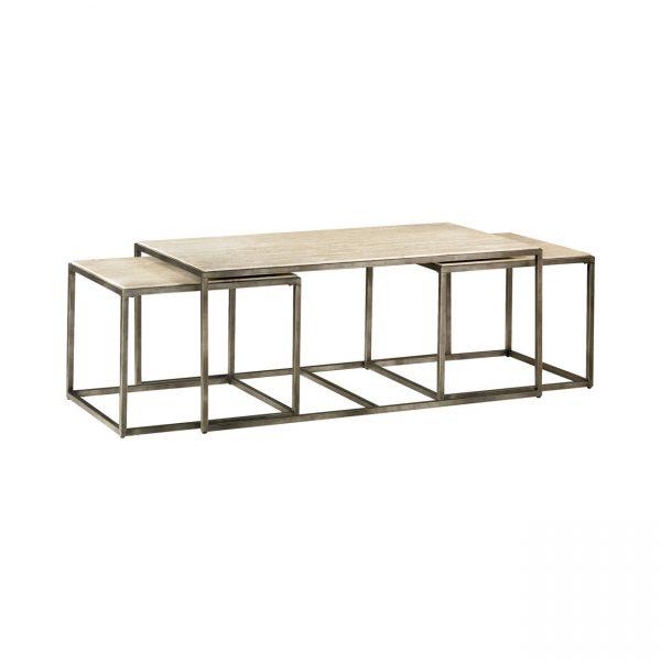 Hammary Furniture Modern Basics Collection Rectangularl Nesting Cocktail Tables