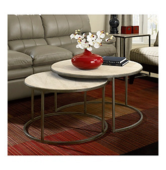 Hammary Furniture Modern Basics Collection Round Nesting Cocktail Tables