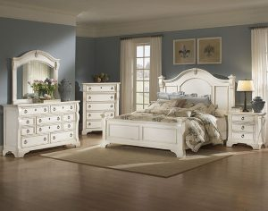 American Woodcrafters Heirloom Bedroom- White