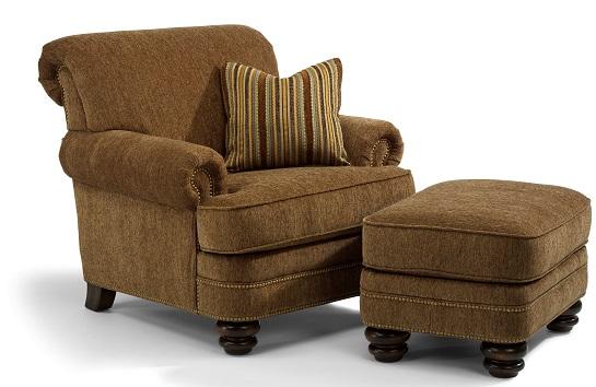 Flexsteel Bay Bridge Chair and Ottoman-4949
