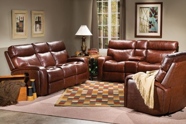 Flexsteel Bixby Leather Reclining Living Room Collection-4978
