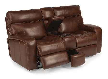 Flexsteel Bixby Leather Reclining Living Room Collection-4977