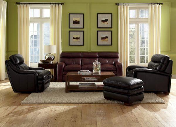 Flexsteel Bixby Leather Swivel Chair-4980