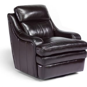 Flexsteel Bixby Leather Swivel Chair-0