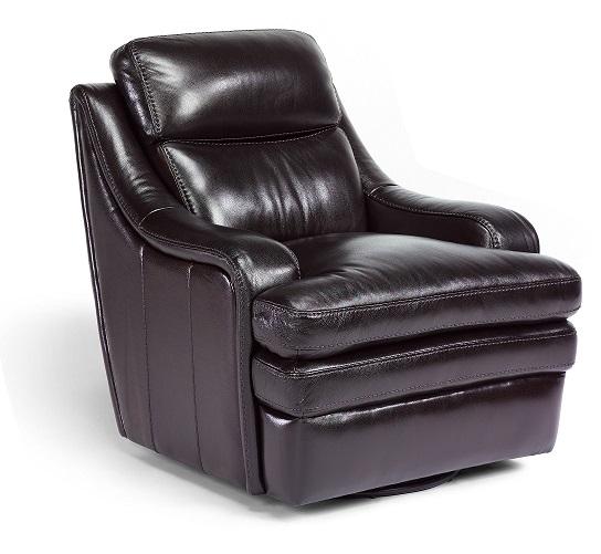 Flexsteel Bixby Leather Swivel Chair-0