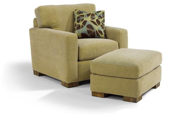 Flexsteel Bryant Chair and Ottoman-0