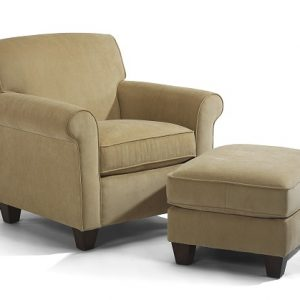 Flexsteel Dana Chair and Ottoman-0