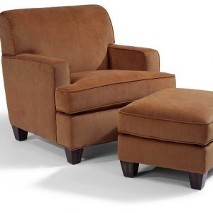 Flexsteel Dempsey Chair and Ottoman-0