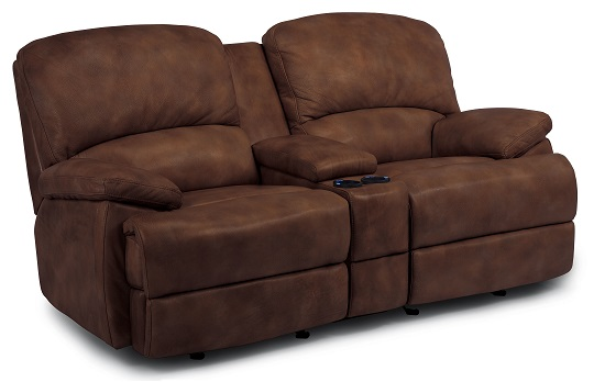 Flexsteel Dylan Leather Reclining Living Room Collection-5063