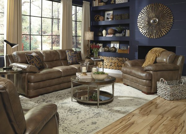 Flexsteel Dylan Leather Reclining Living Room Collection-5064