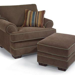 Flexsteel Lehigh Chair and Ottoman-0