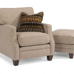 Flexsteel Lennox Chair and Ottoman-0