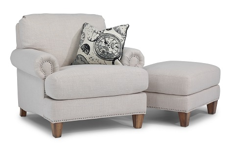Flexsteel Luxury Chair and Ottoman-0