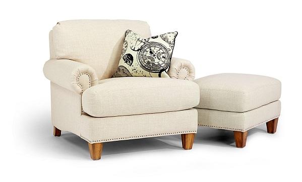 Flexsteel Luxury Chair and Ottoman-5161