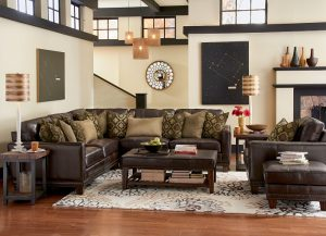 Flexsteel Port Royal Leather Sectional-0