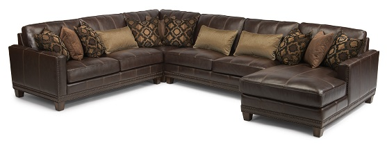 Flexsteel Port Royal Leather Sectional-5185