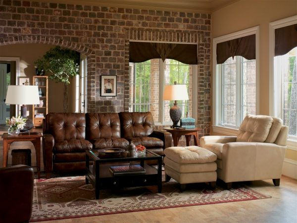 Flexsteel South Street Leather Living Room Collection-5207
