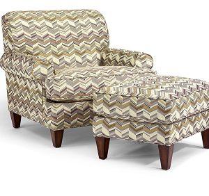 Flexsteel Venture Chair and Ottoman-0