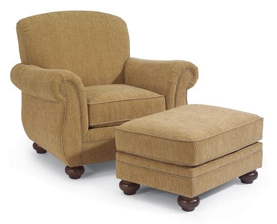 Flexsteel Winston Chair and Ottoman-0