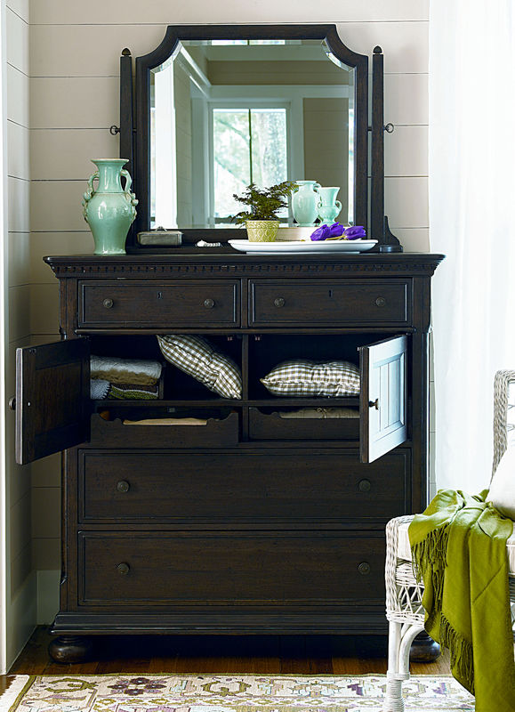 Universal Furniture Down Home Bedroom in Molasses Finish by Paula Deen Home-7114