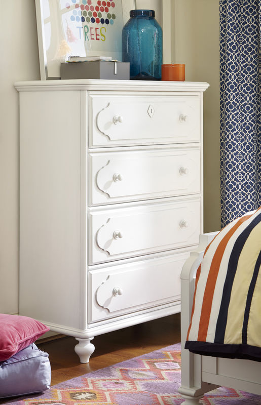 Smartstuff by Universal Black and White Bedroom Collection in White Finish-6819