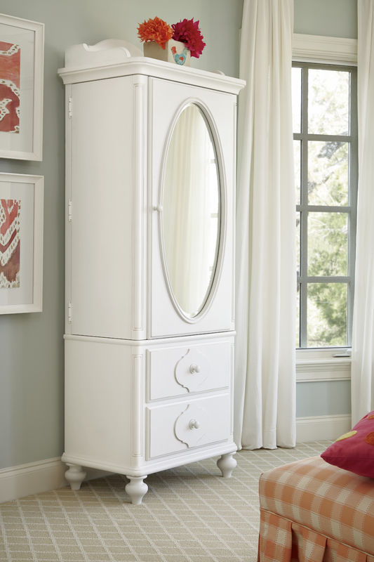 Smartstuff by Universal Black and White Bedroom Collection in White Finish-6823