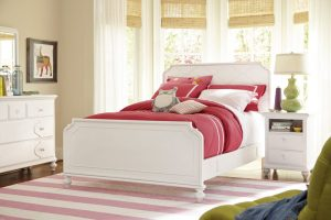 Smartstuff by Universal Black and White Bedroom Collection in White Finish-0