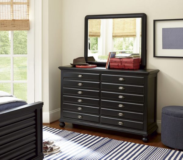 Smartstuff by Universal Black and White Bunk Beds in Black Finish-6804