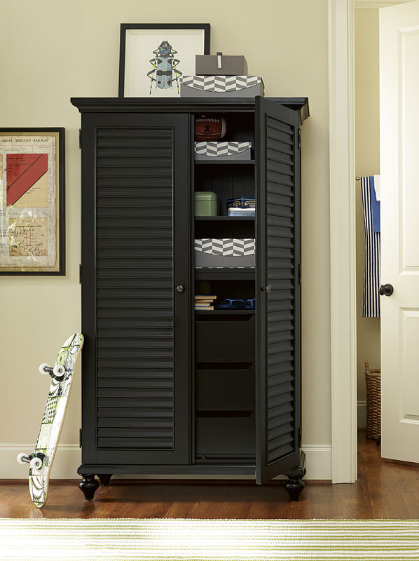 Smartstuff by Universal Black and White Bunk Beds in Black Finish-6805