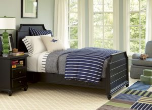 Smartstuff by Universal Black and White Bedroom Collection in Black Finish-0