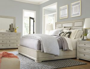 Universal Furniture California Malibu Bedroom with Upholstered Panel Bed