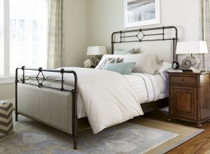 Universal Furniture Paula Deen Home Dogwood Bedroom with Upholstered Metal Bed-0