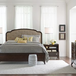 American Drew Grantham Hall Bedroom Collection with Upholstered Panel Bed-0