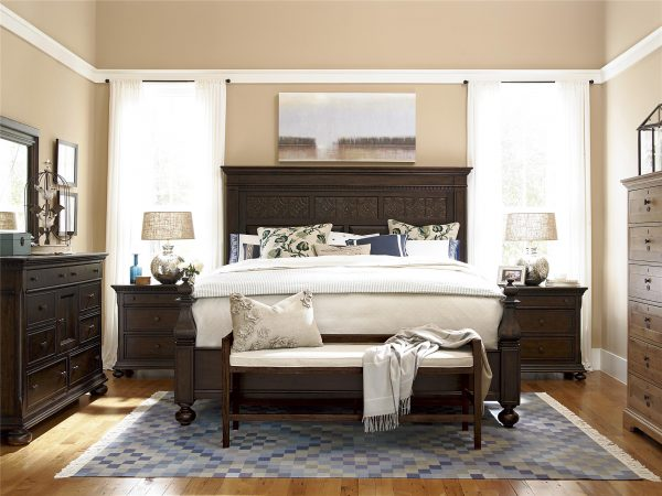 Down Home Bedroom with Aunt Peggy's Bed in Molasses Finish by Paula Deen Home
