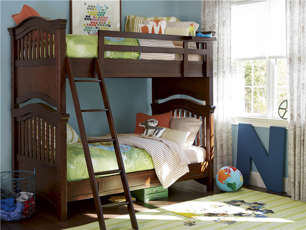 Smartstuff by Universal Classics 4.0 Bunk Beds in Cherry Finish-0