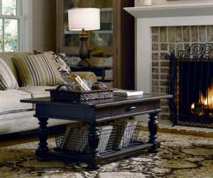 Universal Furniture Down Home Accent Tables by Paula Deen Home in Molasses Finish-0