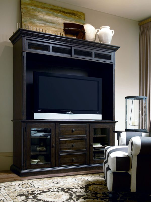 Universal Furniture Down Home Entertainment Console with Hutch by Paula Deen Home-7603