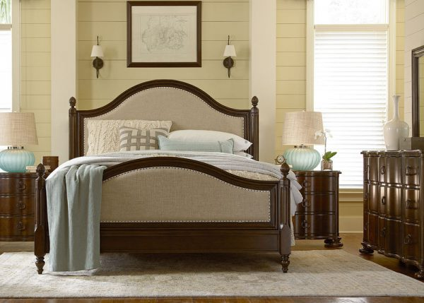 Universal Furniture Paula Deen River House Bedroom with Low Post Bed River Bank Finish-0