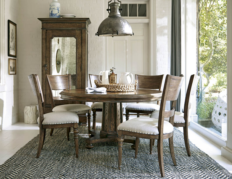 Universal Furniture New Bohemian Dining Room with Round ...