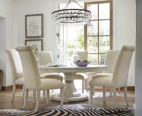 Universal Furniture California Malibu Dining Room with Round Table-7424