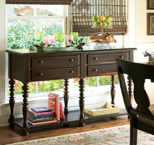 Universal Furniture Paula Deen Home Accent Furniture in Tobacco Finish-7688