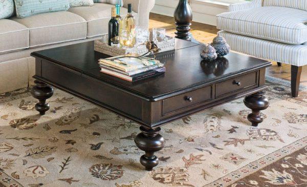 Universal Furniture Paula Deen Home Accent Furniture in Tobacco Finish-7682