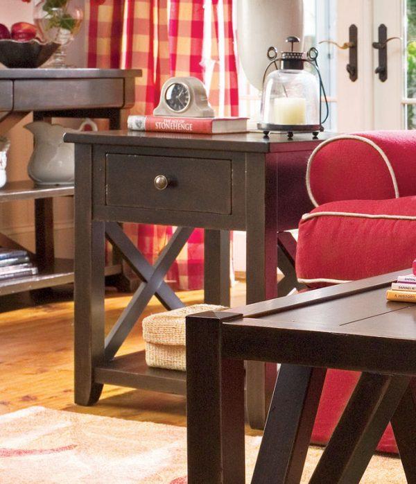 Universal Furniture Paula Deen Home Accent Furniture in Tobacco Finish-7680
