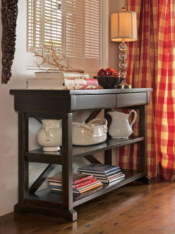 Universal Furniture Paula Deen Home Accent Furniture in Tobacco Finish-7678