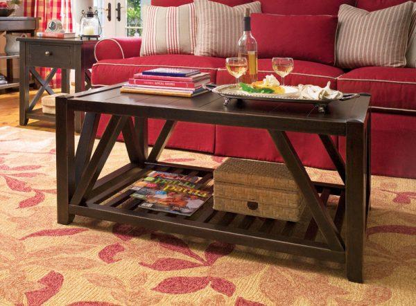 Universal Furniture Paula Deen Home Accent Furniture in Tobacco Finish-7684
